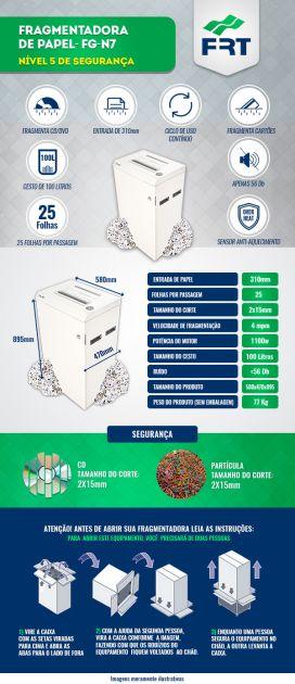 Fragmentadora FG - N7 - Nível 5 Segurança