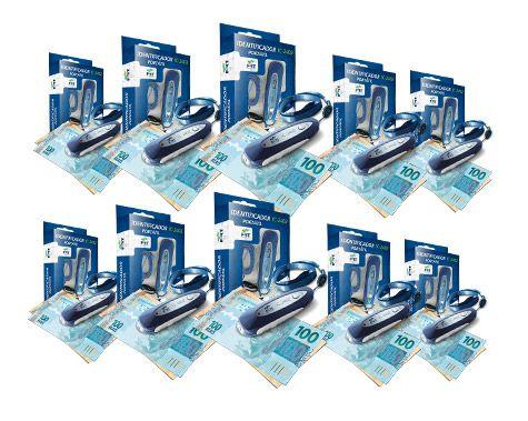 Identificador de notas falsas - Kit com 10 UN